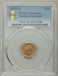 1855-D G$1 -- Smoothed Surfaces -- PCGS Genuine. Variety 7-I. ...(PCGS# 7534)