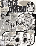 """Original Comic Art:Complete Story, Mike McMahon 2000 AD #3 Complete 4-Page Story """"The New You"""" Judge Dredd Original Art dated 3-12-77 (IPC, 1977).... (Total: 4 Original Art)"""