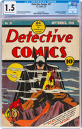 Golden Age (1938-1955):Superhero, Detective Comics #31 (DC, 1939) CGC FR/GD 1.5 Cream to off-white pages....