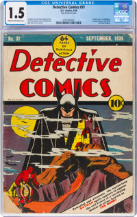 Detective Comics #31 (DC, 1939) CGC FR/GD 1.5 Cream to off-white pages
