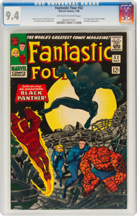 Fantastic Four #52 (Marvel, 1966) CGC NM 9.4 Off-white to white pages