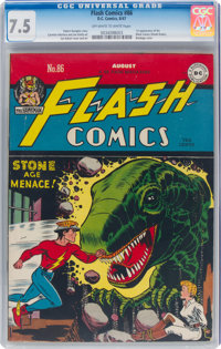 Flash Comics #86 (DC, 1947) CGC VF- 7.5 Off-white to white pages