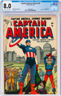 Golden Age (1938-1955):Superhero, Captain America Comics #76 (Atlas, 1954) CGC VF 8.0 Off-white to white pages....