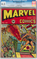 Golden Age (1938-1955):Superhero, Marvel Mystery Comics #15 (Timely, 1941) CGC VG+ 4.5 Off-white to white pages....