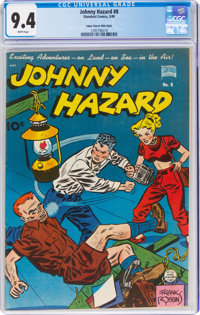 Johnny Hazard #8 Mile High Pedigree (Standard Comics/King Features, 1949) CGC NM 9.4 White pages