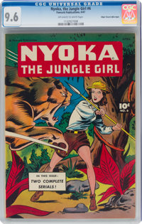 Nyoka the Jungle Girl #6 Mile High Pedigree (Fawcett Publications, 1947) CGC NM+ 9.6 Off-white to white pages