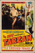 "Movie Posters:Serial, The New Adventures of Tarzan (Burroughs-Tarzan-Enterprise, 1935). Folded, Fine/Very Fine. One Sheet (27"" X 41"") Chapter 2 --..."