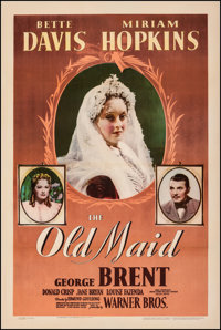 """The Old Maid (Warner Bros., 1939). Fine+ on Linen. One Sheet (27"""" X 41""""). Drama"""
