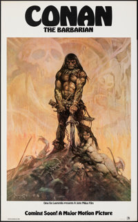 "Conan the Barbarian (20th Century Fox, 1980). Rolled, Very Fine-. Poster (22"" X 36""). Advance, Frank Frazetta..."