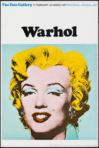 """Marilyn Monroe by Andy Warhol (Tate Gallery, 1971). Rolled, Very Fine-. British Art Gallery Poster (20"""" X 30"""")..."""