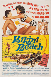 "Bikini Beach & Other Lot (American International, 1964). Folded, Overall: Fine. One Sheets (2) (27"" X 41"")..."