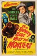 "Movie Posters:Comedy, The Bowery Boys Meet the Monsters (Allied Artists, 1954). Folded, Very Fine-. One Sheet (27"" X 41""). Comedy.. ..."