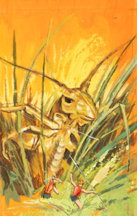 Ace Books Artist The Insect War Preliminary Paperback Book Cover Original Art (Ace Books, 1965)