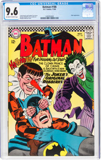 Batman #186 (DC, 1966) CGC NM+ 9.6 Off-white to white pages
