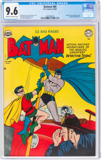 Batman #60 (DC, 1950) CGC NM+ 9.6 Cream to off-white pages