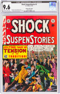 Shock SuspenStories #2 Gaines File Pedigree 2/10 (EC, 1952) CGC NM+ 9.6 Off-white to white pages