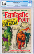 Silver Age (1956-1969):Superhero, Fantastic Four #12 (Marvel, 1963) CGC NM+ 9.6 Off-white to white pages....