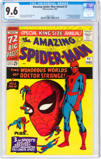 The Amazing Spider-Man Annual #2 (Marvel, 1965) CGC NM+ 9.6 White pages