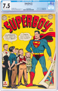 Golden Age (1938-1955):Superhero, Superboy #1 (DC, 1949) CGC VF- 7.5 Off-white to white pages....