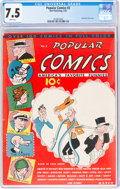 Popular Comics #2 (Dell, 1936) CGC VF- 7.5 White pages
