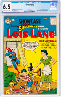 Showcase #9 Superman's Girlfriend Lois Lane (DC, 1957) CGC FN+ 6.5 Off-white to white pages
