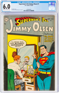 Superman's Pal Jimmy Olsen #1 (DC, 1954) CGC FN 6.0 Cream to off-white pages