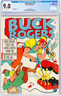 Buck Rogers #3 (Eastern Color, 1941) CGC VF/NM 9.0 Off-white pages