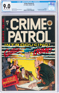Crime Patrol #7 (EC, 1948) CGC VF/NM 9.0 Off-white to white pages