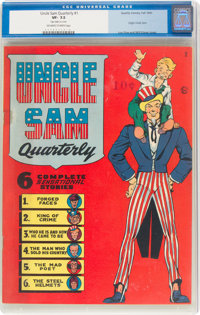 Uncle Sam Quarterly #1 (Quality, 1941) CGC VF- 7.5 Off-white to white pages