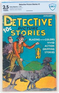 Detective Picture Stories #2 (Comics Magazine, 1937) CBCS GD+ 2.5 Off-white pages