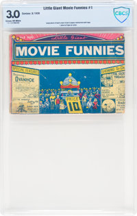 Little Giant Movie Funnies #1 (Centaur, 1938) CBCS GD/VG 3.0 Cream to off-white pages