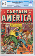 Golden Age (1938-1955):Superhero, Captain America Comics #6 (Timely, 1941) CGC GD 2.0 Off-white to white pages....
