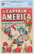 Golden Age (1938-1955):Superhero, Captain America Comics #25 (Timely, 1943) CBCS GD/VG 3.0 Off-white pages....