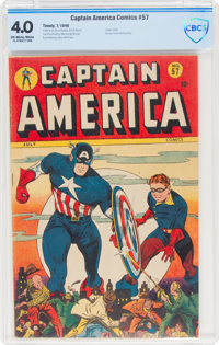 Captain America Comics #57 (Timely, 1946) CBCS VG 4.0 Off-white to white pages