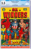 Golden Age (1938-1955):Superhero, All Winners Comics #4 (Timely, 1942) CGC VG- 3.5 Cream to ...