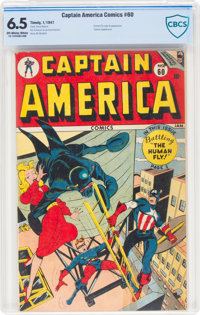 Captain America Comics #60 (Timely, 1947) CBCS FN+ 6.5 Off-white to white pages
