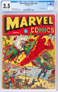 Marvel Mystery Comics #40 (Timely, 1943) CGC VG- 3.5 Cream to off-white pages