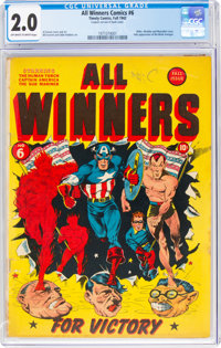 All Winners Comics #6 (Timely, 1942) CGC GD 2.0 Off-white to white pages