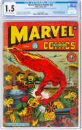 Golden Age (1938-1955):Superhero, Marvel Mystery Comics #32 (Timely, 1942) CGC FR/GD 1.5 Cream to off-white pages....