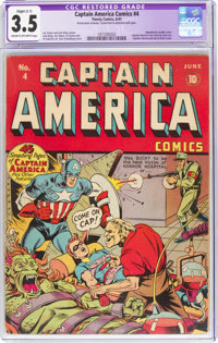 Captain America Comics #4 (Timely, 1941) CGC Apparent VG- 3.5 Slight (C-1) Cream to off-white pages