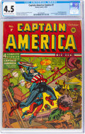 Golden Age (1938-1955):Superhero, Captain America Comics #7 (Timely, 1941) CGC VG+ 4.5 Cream to off-white pages....