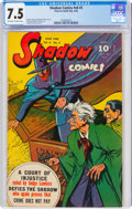 Golden Age (1938-1955):Crime, Shadow Comics V6#3 (Street & Smith, 1946) CGC VF- 7.5 Off-white to white pages....