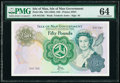 World Currency, Isle Of Man Isle of Man Government 50 Pounds ND (1983) Pick 39a PMG Choice Uncirculated 64.. ...