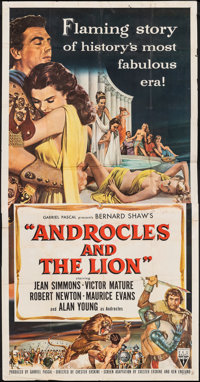 """Androcles and the Lion (RKO, 1952). Folded, Fine+. Three Sheet (41"""" X 78""""). Comedy"""