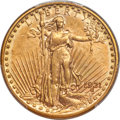 1921 $20 AU58 PCGS. Double eagle production in 1921 occurred only at the Philadelphia Mint. Just 528,500 coins were stru...