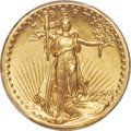 1907 $20 High Relief, Flat Rim, MS63 PCGS. CAC. The Flat Rim variety of the High Relief double eagle represents the culm...
