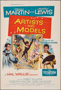 """Artists and Models & Other Lot (Paramount, 1955). Folded, Fine/Very Fine. One Sheets (2) (27"""" X 41""""). Jose..."""