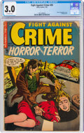 Golden Age (1938-1955):Horror, Fight Against Crime #20 (Story Comics, 1954) CGC GD/VG 3.0 Off-white pages....