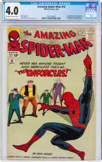 The Amazing Spider-Man #10 (Marvel, 1964) CGC VG 4.0 Off-white to white pages