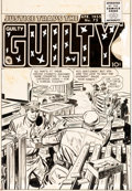 Original Comic Art:Covers, Marvin Stein Justice Traps the Guilty #73 Cover Original Art (Prize Comics, 1955)....